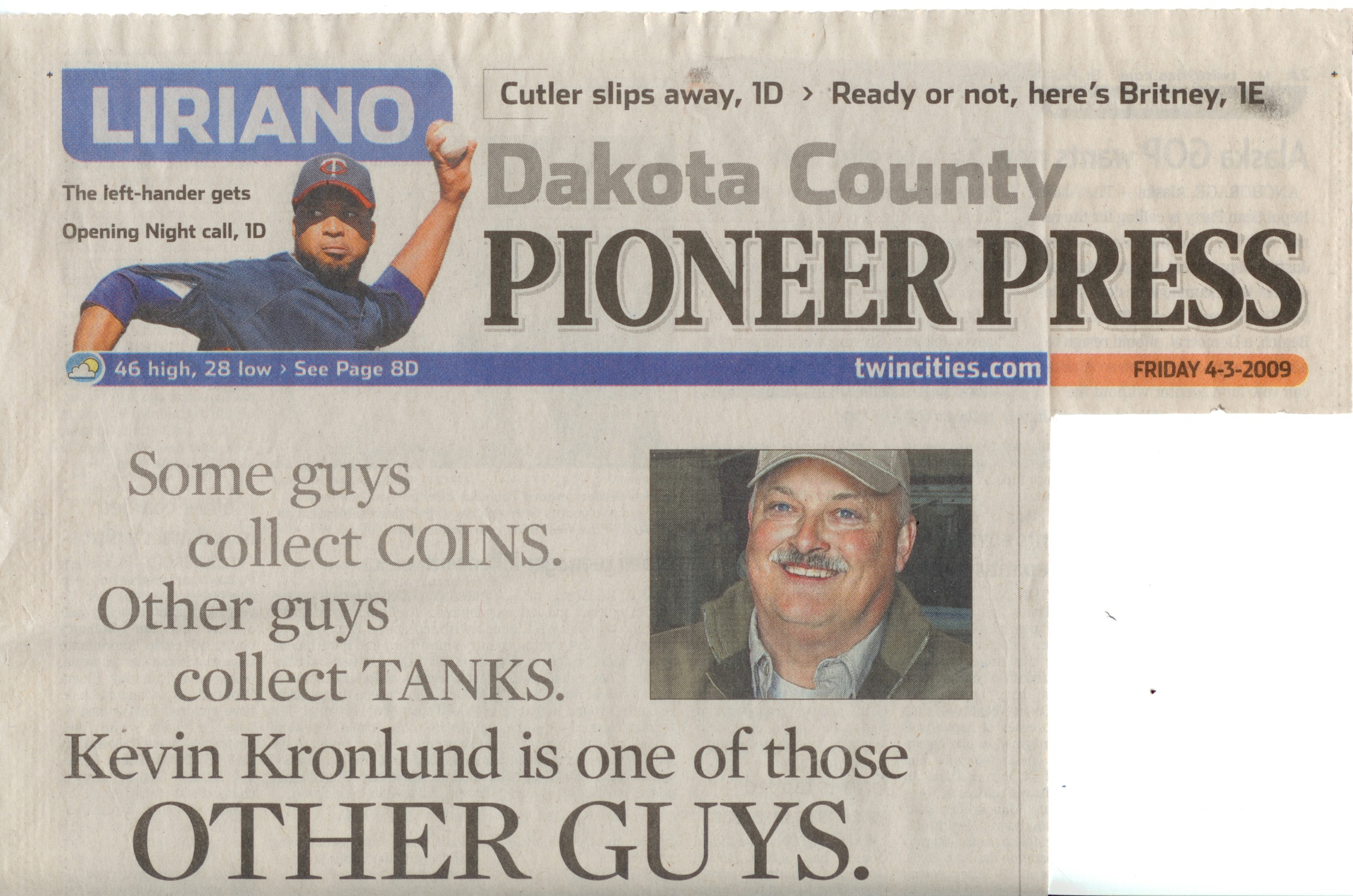 Pioneer Press-Front Page